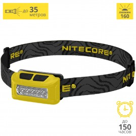 Налобный фонарь NITECORE NU10 YELLOW HIGH PERFORMANCE 15988
